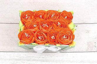Dekorácie - Kvetinový box lososový ruže - 9235302_