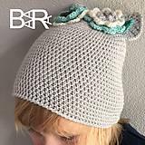 Detské čiapky - uškatá bledošedá - 9237229_
