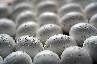 Dekorácie - Biele madeirové kraslice - 9237645_