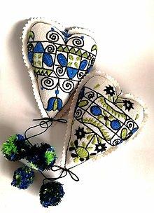 Dekorácie - Ornament v srdci, vyšívka Zariečie - 9234256_
