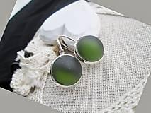 Náušnice - oliva - 9237311_