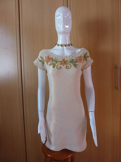 6d9deff58 Bavlnené šaty s výšivkou / oveckovo - SAShE.sk - Handmade Šaty