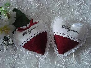 Darčeky pre svadobčanov - Svadobné srdiečka - 9234346_