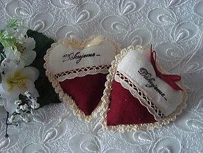 Darčeky pre svadobčanov - Svadobné srdiečka - 9234378_