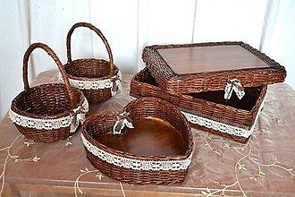 Košíky - Svadobné pre Pavlínku - 9235711_