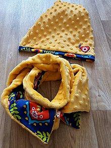 Detské súpravy - obojstranný set čiapka a šál/nákrčník - 9236789_