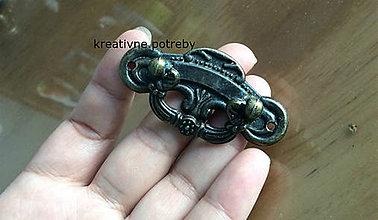 Polotovary - Kovová úchytka bronz, ihneď - 9237484_