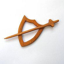 Odznaky/Brošne - Jelšová ihlica na šál - rytierska - 9237585_