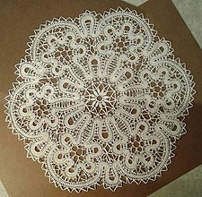 Úžitkový textil - Paličkovaná čipka - 9241967_