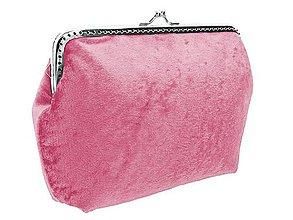 Kabelky - Dámská růžová kabelka zamatová  04703 (Červená) - 9243322_