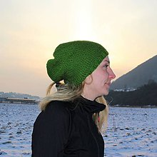 Čiapky - Zelená čiapka - 9241496_