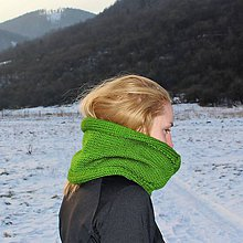 Šály - Zelený nákrčník - 9241511_
