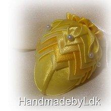 Dekorácie - Veľkonočné vajíčko žlté - 9238970_