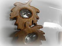 Odznaky/Brošne - drevená spona... - 9238886_