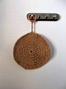 Úžitkový textil - Podložka pod z hrniec z juty - 9239130_
