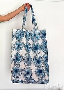 Nákupné tašky - Nákupná taška - Modrá púpava - 9240743_