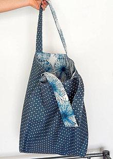 Nákupné tašky - Nákupná taška - Modrá púpava / obojstranná - 9240771_