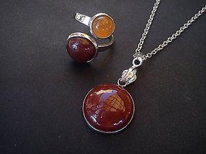 Sady šperkov - Sada - Red Jasper & Agate - 9238917_