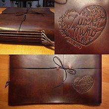 Papiernictvo - Veľký kožený fotoalbum - 9240821_