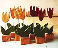 Dekorácie - Drevené kvietky - 9239128_