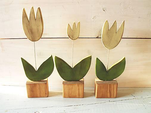 Dekorácie - Drevené tulipány - 9239082_
