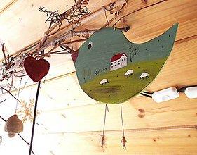 Dekorácie - Maľovaný vtáčik - 9239575_