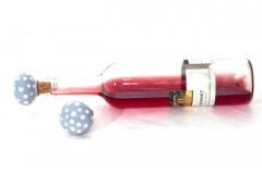 Pomôcky - Šedý štupeľ na fľašu - 9239239_