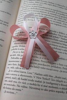Pierka - Svadobné pierko pre svedka staroružová pastelová - 9241887_