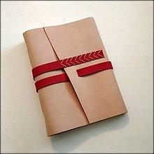 """Papiernictvo - Kožený zápisník ,,Denny"""" A5 béžový - 9239742_"""