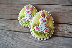 Dekorácie - Medovníkové vajíčko so zajacom 1 - 9240690_