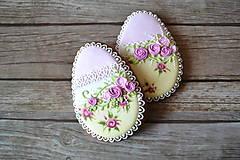 Dekorácie - Medovníkové vajíčko Shabby Chic - 9240764_