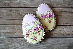 Dekorácie - Medovníkové vajíčko Shabby Chic - 9240765_
