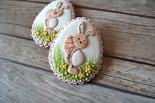 Dekorácie - Medovníkové vajíčko so zajacom - 9240706_