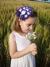 Detské doplnky - Dievčenská čelenka- XL (Ružová) - 9239081_