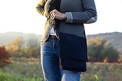 Kabelky - Taška z brúsenej kože  - 9243044_