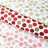 červené bodky, 100 % bavlna Nemecko, šírka 140 cm, cena za 0,5 m