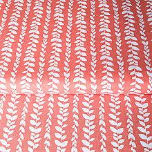 Textil - ružové liany; 100 % bavlna Francúzsko, šírka 160 cm, cena za 0,5 m - 9240714_