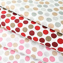 Textil - červené bodky, 100 % bavlna Nemecko, šírka 140 cm, cena za 0,5 m - 9242042_