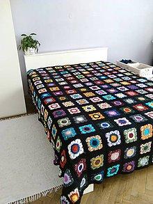Úžitkový textil - Háčkovaná prikrývka / 100% bavlna / - 9240573_