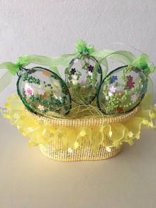 Dekorácie - Korálkové veľkonočné vajíčko - 9240724_