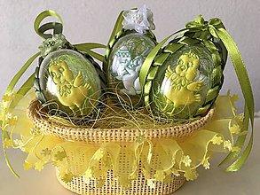 Dekorácie - Veľkonočné vajíčko s kuriatkom/zajačikom / - 9241323_