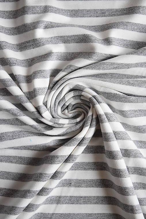 Jednolíc BAMBUS vis. elastický – proužek šedý melír 5 mm
