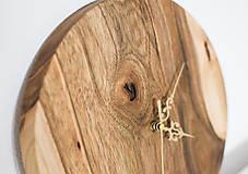 Hodiny - orechové hodiny (balík na adresu, poistenie 30€, označenie krehké 2€) - 9241421_
