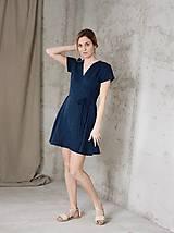 Šaty - Dámske ľanové zavinovacie šaty ELLY - dostupné v 18 farbách - 9240782_
