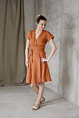 Šaty - Dámske ľanové zavinovacie šaty CLAIRE - dostupné v 18 farbách - 9240848_