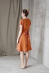Šaty - Dámske ľanové zavinovacie šaty CLAIRE - dostupné v 18 farbách - 9240850_
