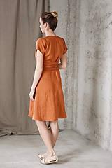Šaty - Dámske ľanové zavinovacie šaty CLAIRE - dostupné v 18 farbách - 9240870_