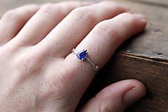 Prstene - Vetvičkový prsteň strieborný so studienkou Ag925 (Vetvičkový prsteň strieborný so studienkou Ag925) - 9240620_