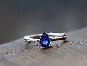 Prstene - Vetvičkový prsteň strieborný so studienkou Ag925 - 9240621_
