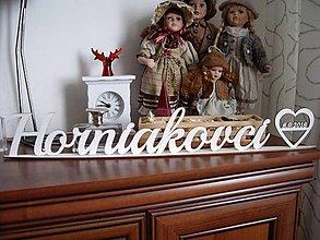Dekorácie - Nápis na svadobný stôl - dekorácia - 9243259_